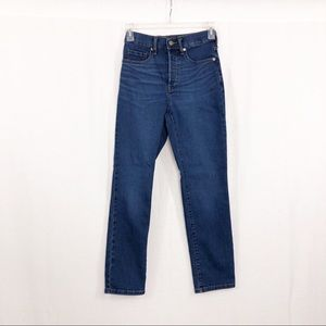 Everlane High Rise Cigarette Ankle Jeans, Size 25